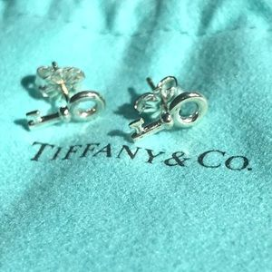 Tiffany & Co. silver key studs